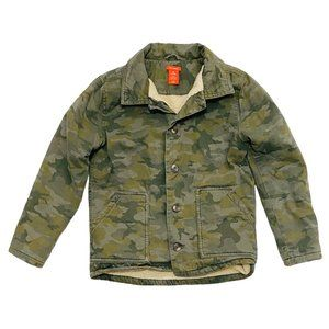 Camo Print Fleece Lined Jacket